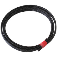 "AEROFLOW PET FLEX BRAID HEAT SLEEVE AF91-7050 BLACK 1/4"" x 1m LONG"