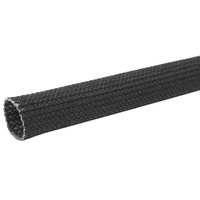 "AEROFLOW BRAIDED HEAT SLEEVE SHIELD AF91-9000 1/4"" I.D. SUITS -4 HOSE 1 METER"