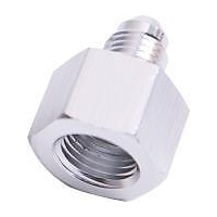 AEROFLOW ALUMINIUM FEMALE -12AN TO MALE -10AN REDUCER SILVER AF950-12-10S