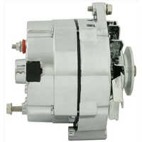 JAS AND100C Chev GM Holden 12v 100a 1 Wire Alternator Chrome Delco 10si Style