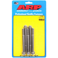 "ARP ARP713-4000 S/S 12PT Bolts 3/8"" UNF X 4.000"" Polished Set of 5"