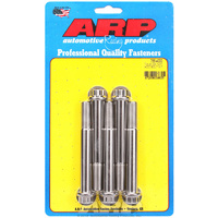 "ARP S/S 12PT BOLTS 1/2"" UNF x 4.000"" ARP755-4000 POLISHED SET OF 5"