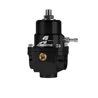 AEROMOTIVE X1 2-PORT CARBURETOR REGULATOR ARO13304, -8AN PORTS 5-15 PSI BLACK