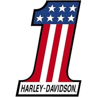 "HARLEY-DAVIDSON NUMBER ONE METAL SIGN ARO201091 MEASURES 12"" x 18"""