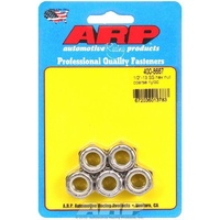 "ARP ARP400-8761 Stainless Steel Nyloc Hex Nut 1/4""-28 RH Thread Set of 5 ARP400-8761"