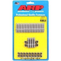 ARP ARP454-1904 Oil Pan Studs Polished Stainless Steel 12-Point Nut Ford Small Block Late MODel with SIDe Raiholden CommODore LS Kit