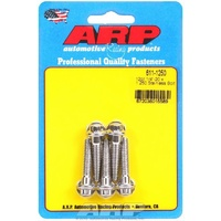 "ARP ARP611-1250 S/S 12PT Bolts 1/4""-20 RH X 1.250"" UHL Polished Set of 5 ARP611-1250"
