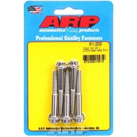 "ARP ARP611-2000 12PT Polished S/S Bolts 1/4""-20 RH X 2.00"" UHL Set of 5 ARP611-2000"