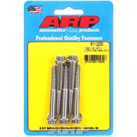"ARP ARP611-2250 12PT S/S Bolts 1/4""-20 RH X 2.250"" UHL Polished Set of 5 ARP611-2250"