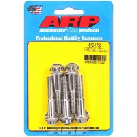 "ARP ARP612-1750 S/S 12PT Bolts 5/16""-18 RH X 1.750"" UHL Polished Set of 5 ARP612-1750"