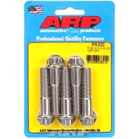 "ARP ARP616-2000 S/S 12PT Bolts 7/16""-14 RH X 2.000"" UHL Polished Set of 5 ARP616-2000"