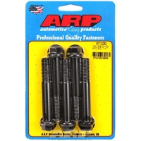 "ARP 8740 CHROMOLY HEX BOLTS 1/2""-13 x 3.250"" UHL BLACK SET OF 5 ARP617-3250"