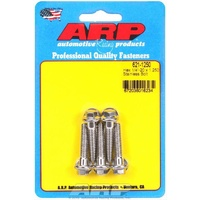 "ARP ARP621-1250 S/S Hex Bolts 1/4""-20 RH X 1.250"" UHL Polished Set of 5 ARP621-1250"