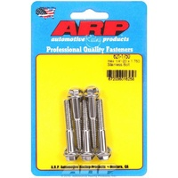 "ARP ARP621-1750 S/S Hex Bolts 1/4""-20 RH X 1.750"" UHL Polished Set of 5 ARP621-1750"