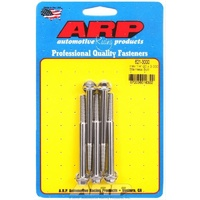 "ARP S/S HEX BOLTS 1/4""-20 RH x 3.000"" UHL POLISHED SET OF 5 ARP621-3000"