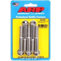 "ARP S/S HEX BOLTS 3/8""-16 RH x 2.500"" UHL POLISHED SET OF 5 ARP623-2500"