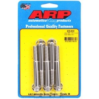 "ARP S/S HEX BOLTS 3/8""-16 RH x 3.000"" UHL POLISHED SET OF 5 ARP623-3000"