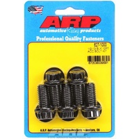 "ARP 12PT 8740 CHROMOLY BOLTS 1/2""-13 x 1.000"" UHL BLACK SET OF 5 ARP627-1000"