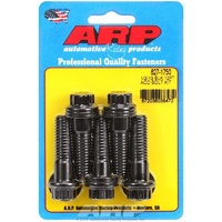 "ARP 12PT 8740 CHROMOLY BOLTS 1/2""-13 x 1.750"" UHL BLACK SET OF 5 ARP627-1750"