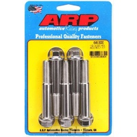 "ARP S/S HEX BOLTS 1/2""-13 x 3.000"" UHL POLISHED SET OF 5 ARP646-3000"