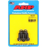 "ARP 8740 CHROMOLY HEX BOLTS 1/4""-20RH x .750"" UHL BLACK SET OF 5 ARP650-0750"