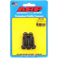 "ARP 8740 CHROMOLY HEX BOLTS 1/4""-20 RH x 1.000"" UHL BLACK SET OF 5 ARP650-1000"