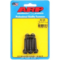 "ARP 8740 CHROMOLY HEX BOLTS 1/4""-20 RH x 1.250"" UHL BLACK SET OF 5 ARP650-1250"