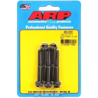 "ARP 8740 CHROMOLY HEX BOLTS 1/4""-20 RH x 2.000"" UHL BLACK SET OF 5 ARP650-2000"