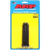 "ARP 8740 CHROMOLY HEX BOLTS 1/4""-20 RH x 4.000"" UHL BLACK SET OF 5 ARP650-4000"
