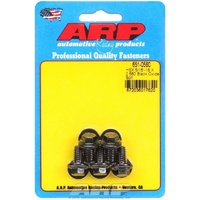 "ARP 8740 CHROMOLY HEX BOLTS 5/16""-18 RH x .560"" UHL BLACK SET OF 5 ARP651-0560"