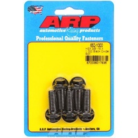 "ARP 8740 CHROMOLY HEX BOLTS 3/8""-16RH x 1.000"" UHL BLACK SET OF 5 ARP652-1000"