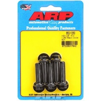 "ARP 8740 CHROMOLY HEX BOLTS 3/8""-16 RH X 1.250"" UHL BLACK SET OF 5 ARP652-1250"