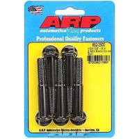 "ARP ARP652-2500 Custom 450 Hex Head Bolt Set 3/8""UNC X 2.50"" U.H.L Black 5 Pack ARP652-2500"