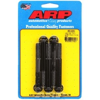 "ARP 8740 CHROMOLY HEX BOLTS 3/8""-16 RH x 3.250"" UHL BLACK SET OF 5 ARP652-3250"