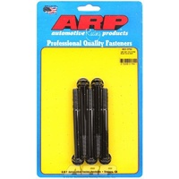 "ARP 8740 CHROMOLY HEX BOLTS 3/8""-16 RH x 3.750"" UHL BLACK SET OF 5 ARP652-3750"