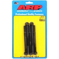 "ARP 8740 CHROMOLY HEX BOLTS 3/8""-16 RH x 4.500"" UHL BLACK SET OF 5 ARP652-4500"