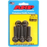 "ARP 8740 CHROMOLY HEX BOLTS 7/16""-14 x 1.500"" UHL BLACK SET OF 5 ARP653-1500"