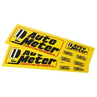 "AutoMeter AU0208 1 Assorted Decal Sheet Yellow Competition Instruments 4"" Long"