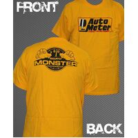 AutoMeter AU0401-XXL Yellow Monster Gauge T-Shirt Xx-Large