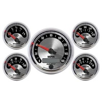 AutoMeter AU1202 American Muscle Gauge Kit Speedo Fuel Water Temp Oil Pres Volts