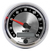 "AUTOMETER AMERICAN MUSCLE 3-3/8"" ELEC IN-DASH SPEEDO 0-160 MPH AU1288"