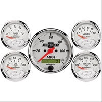 AutoMeter AU1302-00408 Arctic White Chev Bowtie Analog Gauge Kit
