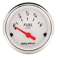 "Arctic White Series Fuel Level Gauge (2-1/16"", Short Sweep Electric, GM, 0 ohms Empty/30 ohms Full) (AU1318)"