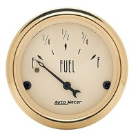 "AUTOMETER GOLDEN OLDIES 2-1/16"" ELECTRIC FUEL LEVEL GAUGE 240-33 OHMS AU1506"