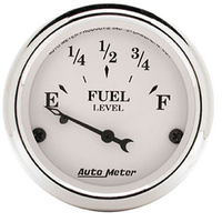 "AUTOMETER OLD TYME WHITE  2-1/16"" ELEC FUEL LEVEL GAUGE 240-33 OHMS AU1606"