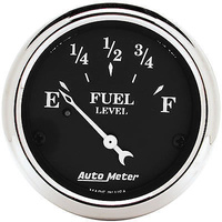 "AUTOMETER OLD TYME BLACK 2-1/16"" ELEC FUEL LEVEL GAUGE 73 OHMS/8-12 OHMS AU1716"