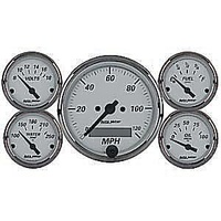AutoMeter AU1902 American Platinum Gauge Set Elec Speedo Fuel Water Oil Volts