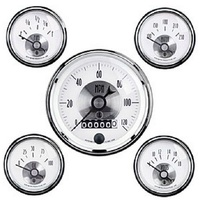 "AUTOMETER PRESTIGE 5 GAUGE KIT 3-3/8"" SPEEDO - 2-1/16"" TEMP/OIL/VOLT/FUEL AU2006"
