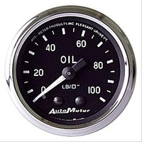 "AutoMeter AU201006 Cobra 2-1/16"" Mech Oil Pressure Gauge 0-100 PSI"