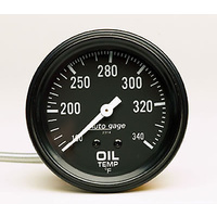 "AutoMeter AU2314 Auto Gage 2-5/8"" Mech Oil Temp Gauge 100-340°F"